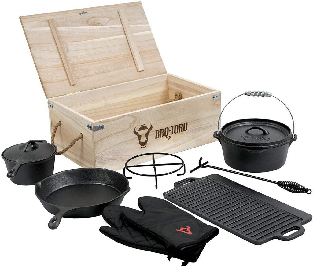 BBQ-Toro Dutch Oven Set in houten kist - www.BBQfriends.nl