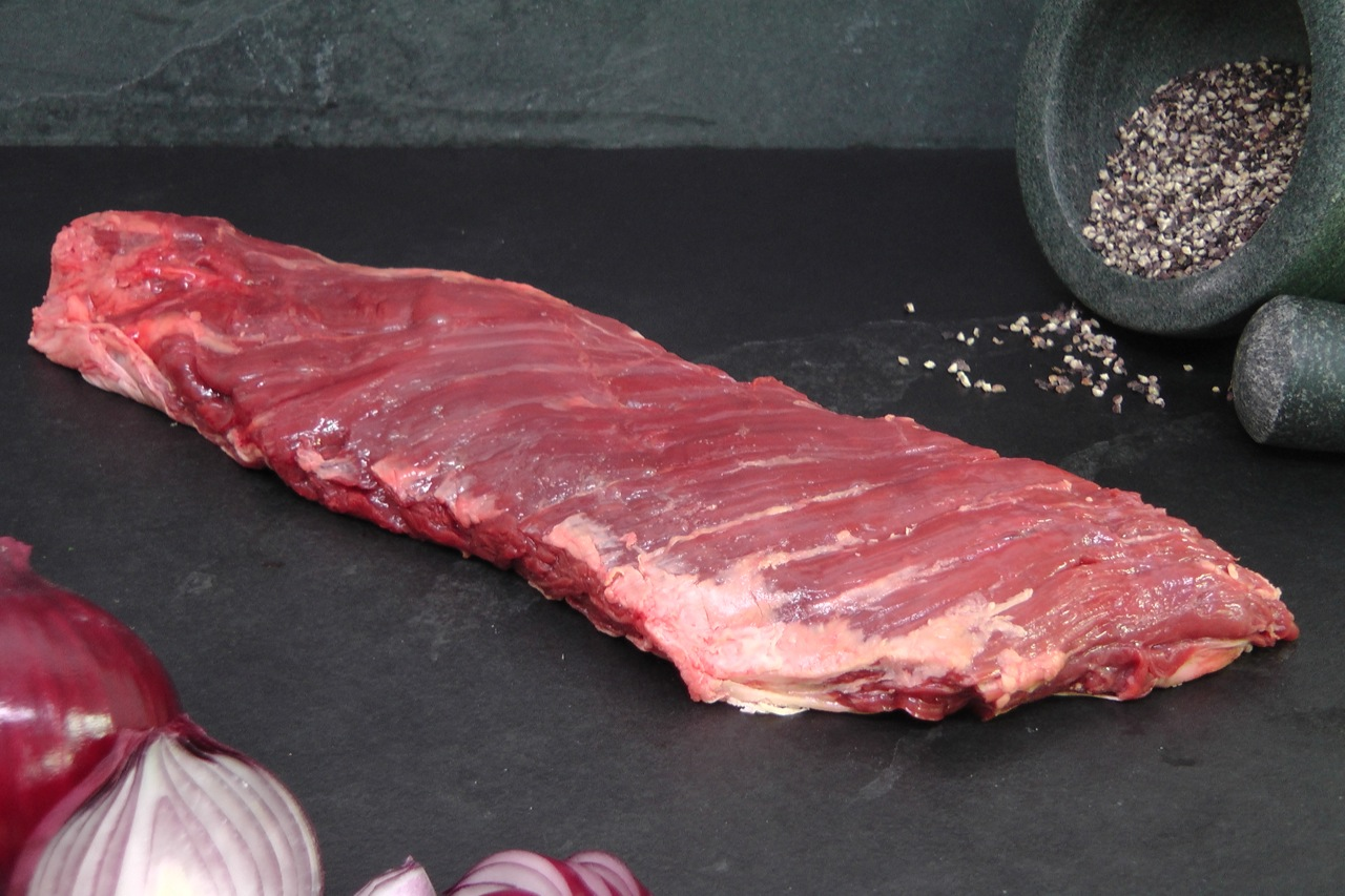 Bavette steak van de BBQ