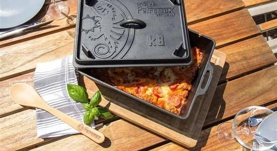 Gietijzeren Broodpan - Gietijzeren Broodpan petromax k8 - oven, grill, bbq, kampvuur - www.BBQfriends.nl