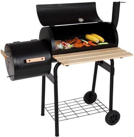 Top 10 houtkoolbarbecues - Tectake Houtskool Smoker barbecue - www.BBQfriends.nl